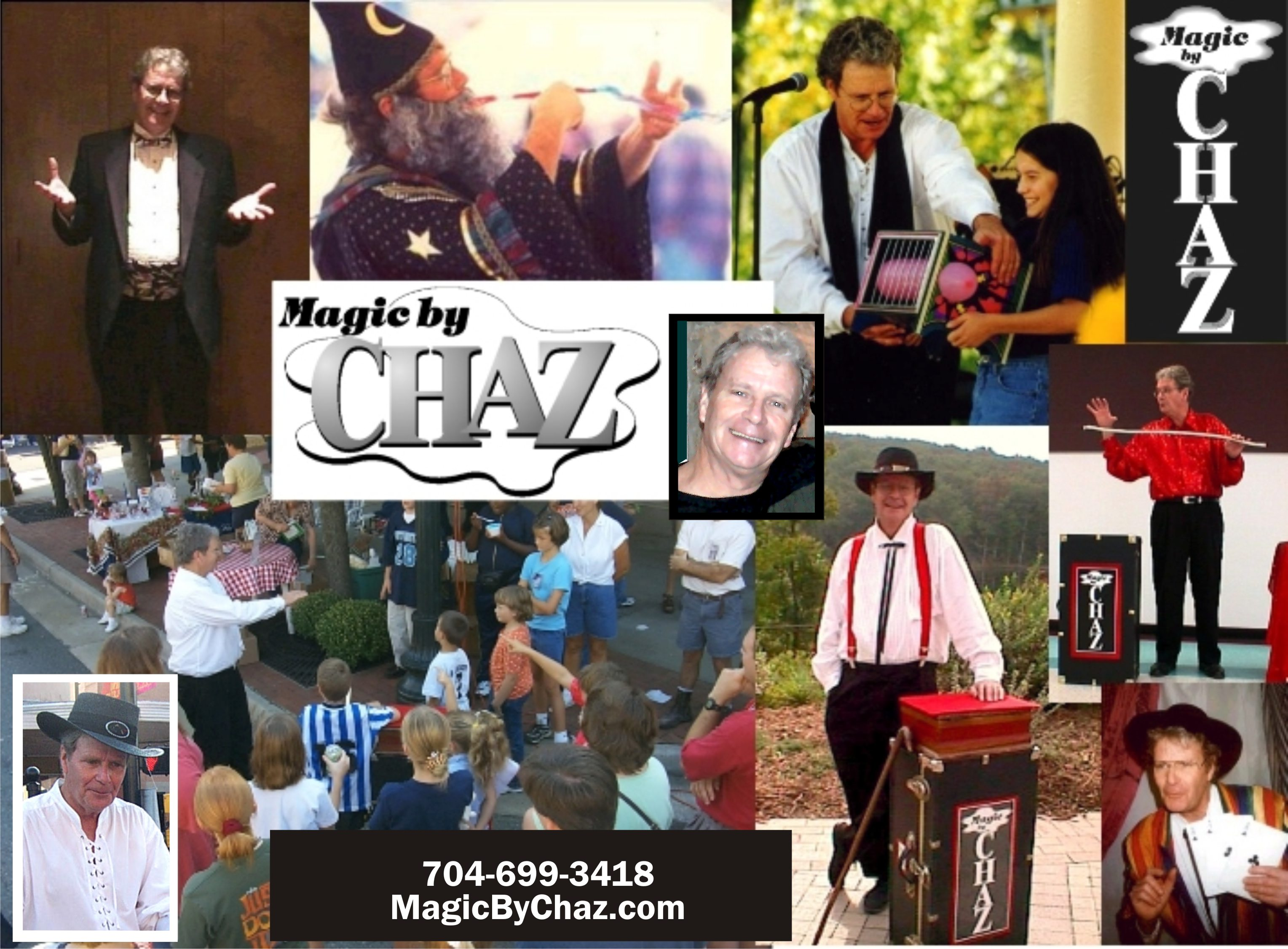 MAGIC by CHAZ | Magician - NC SC VA WV TN GA FL | Festivals, Meetings, Schools, Corporate Entertainment